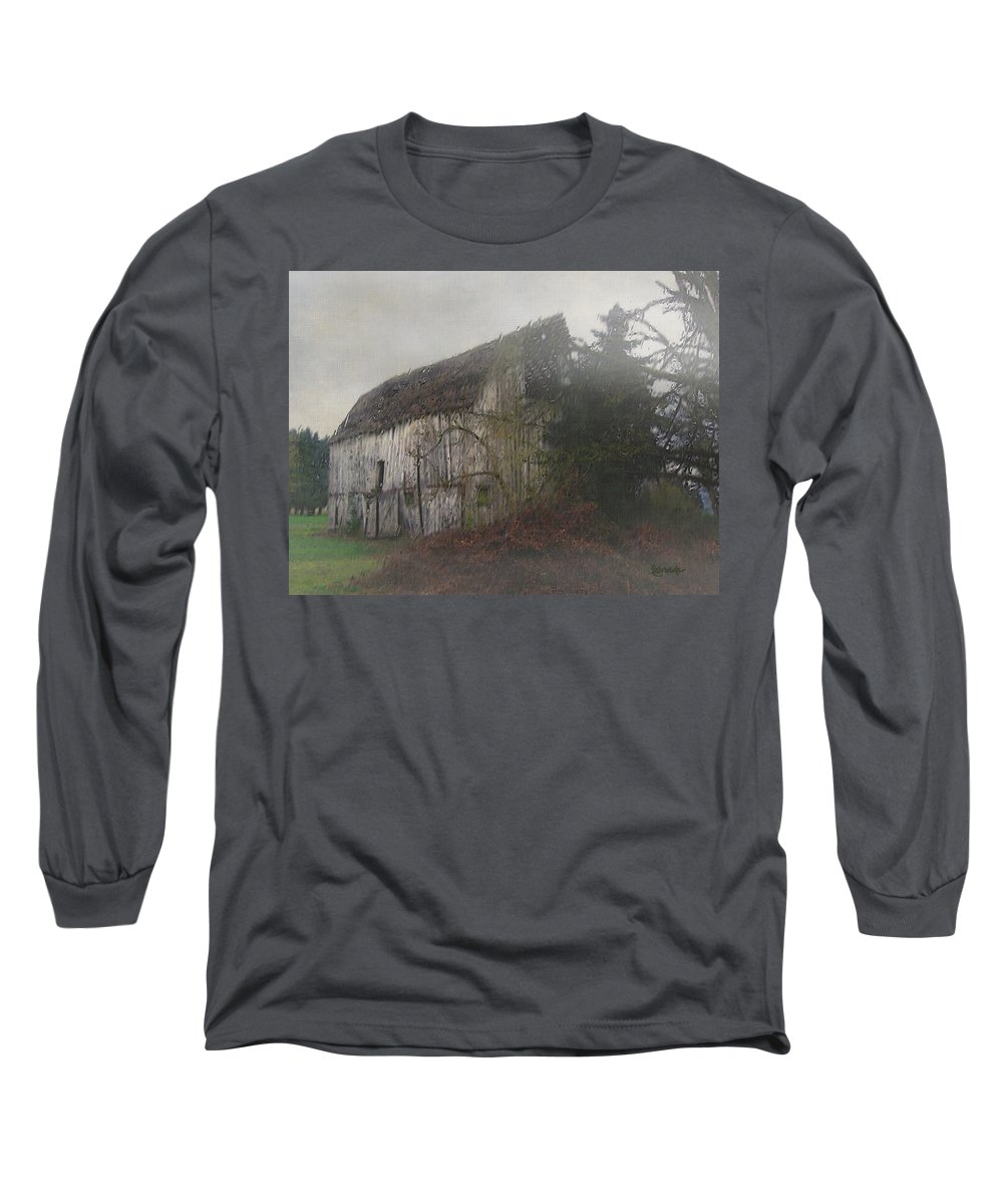Barn Long Sleeve T-Shirt featuring the painting Oregon Relic by RC deWinter