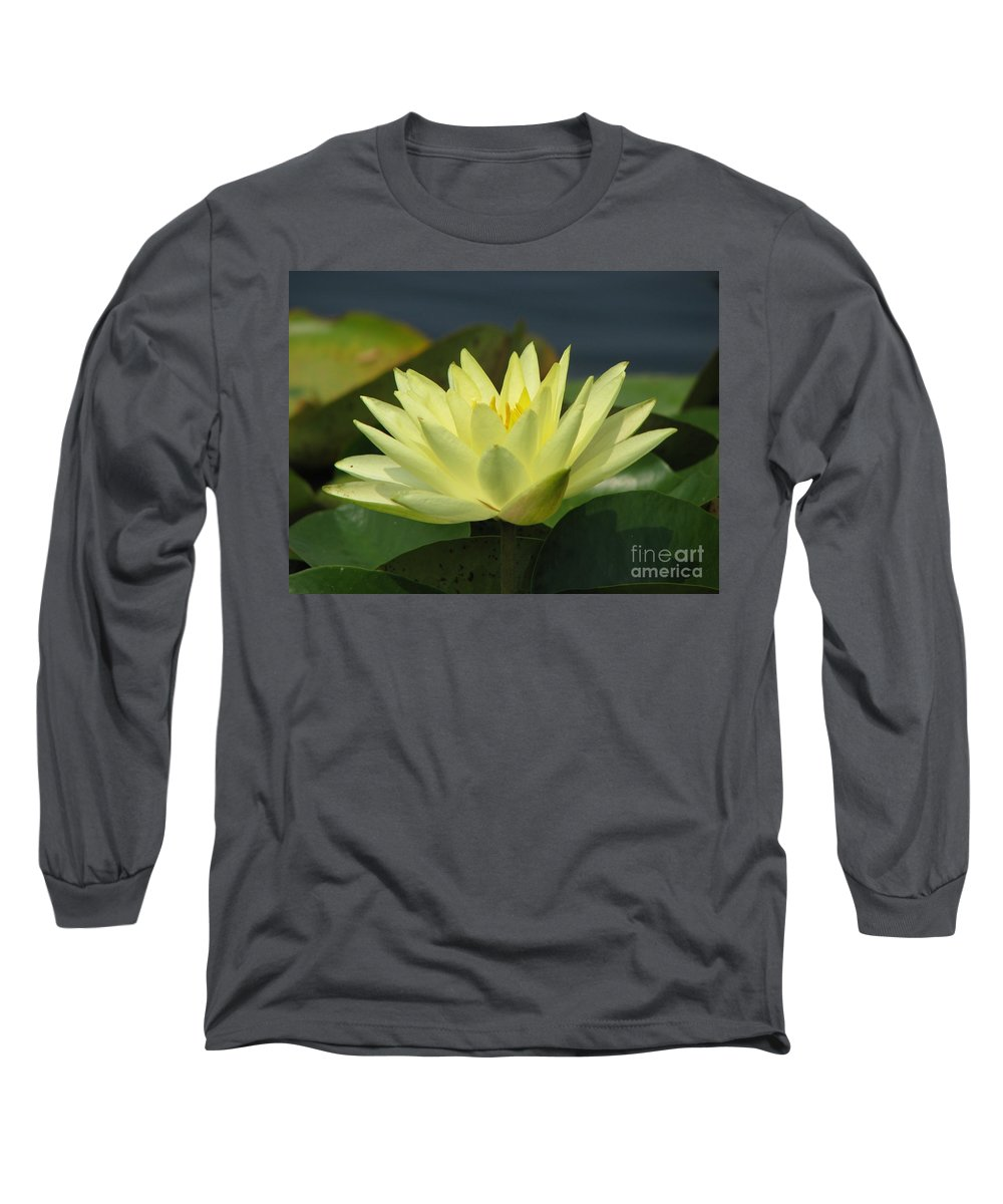 Lillies Long Sleeve T-Shirt featuring the photograph Peace by Amanda Barcon