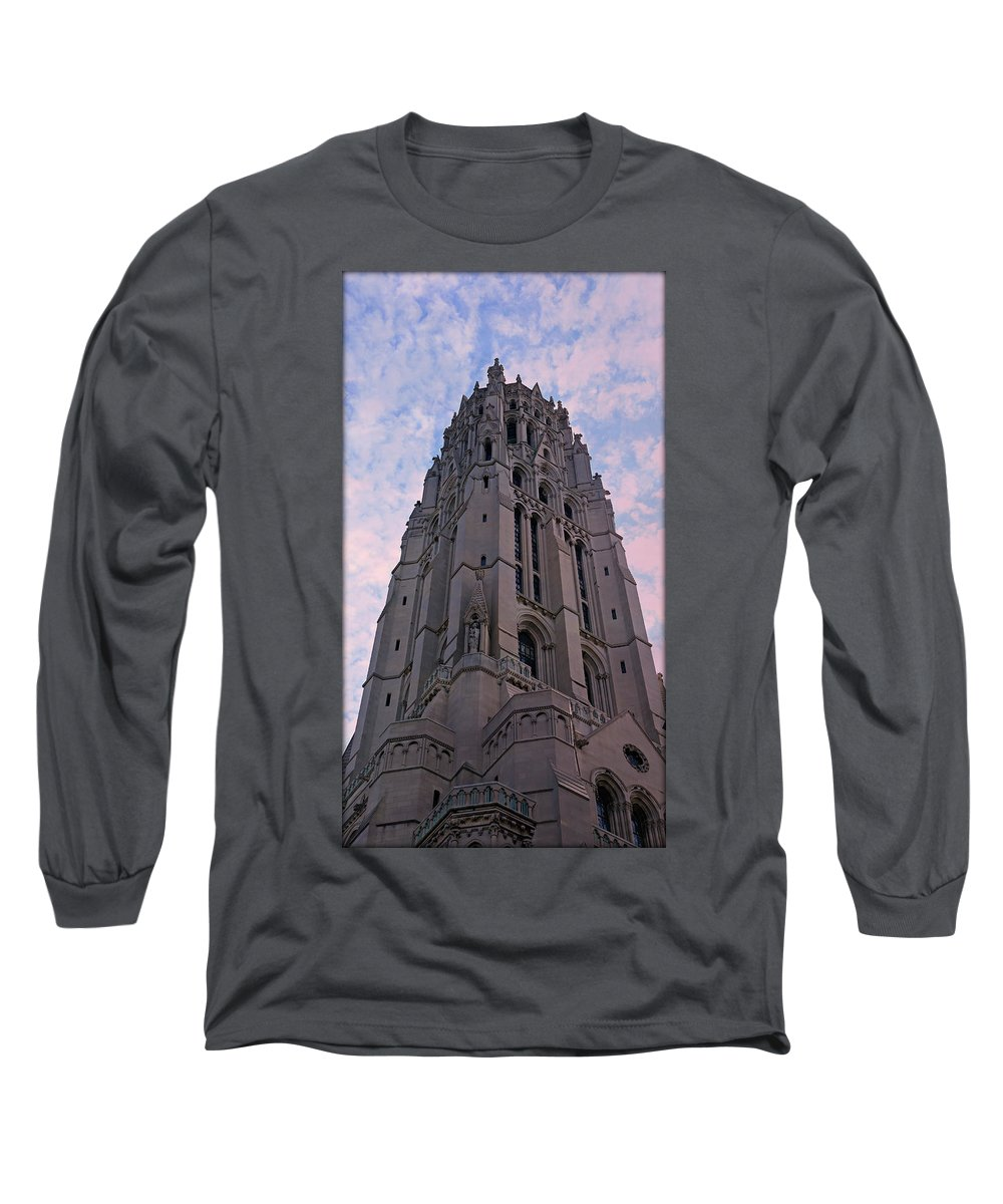 America Long Sleeve T-Shirt featuring the photograph Riverside Church by Stephen Stookey