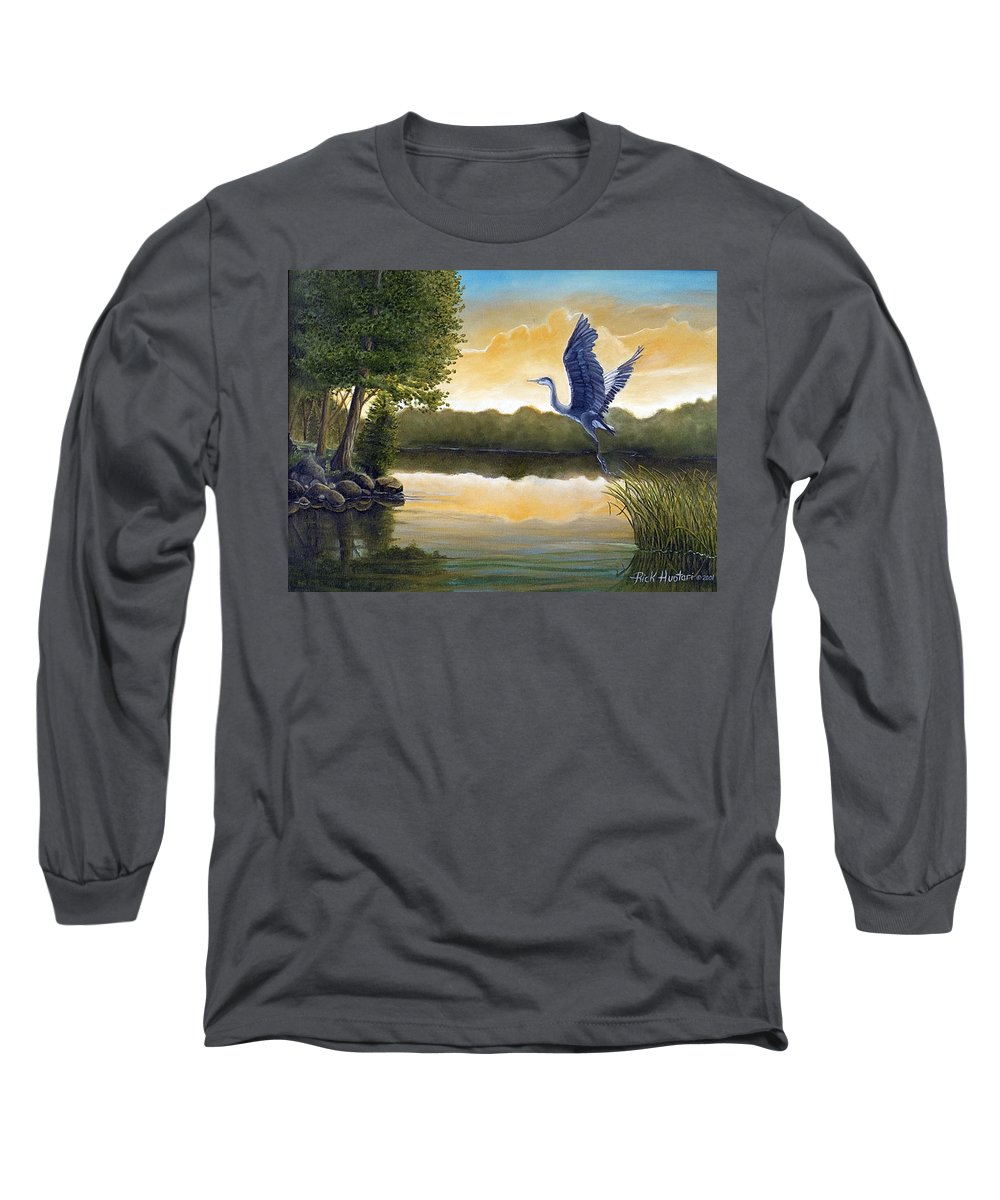 Rick Huotari Long Sleeve T-Shirt featuring the painting Serenity by Rick Huotari