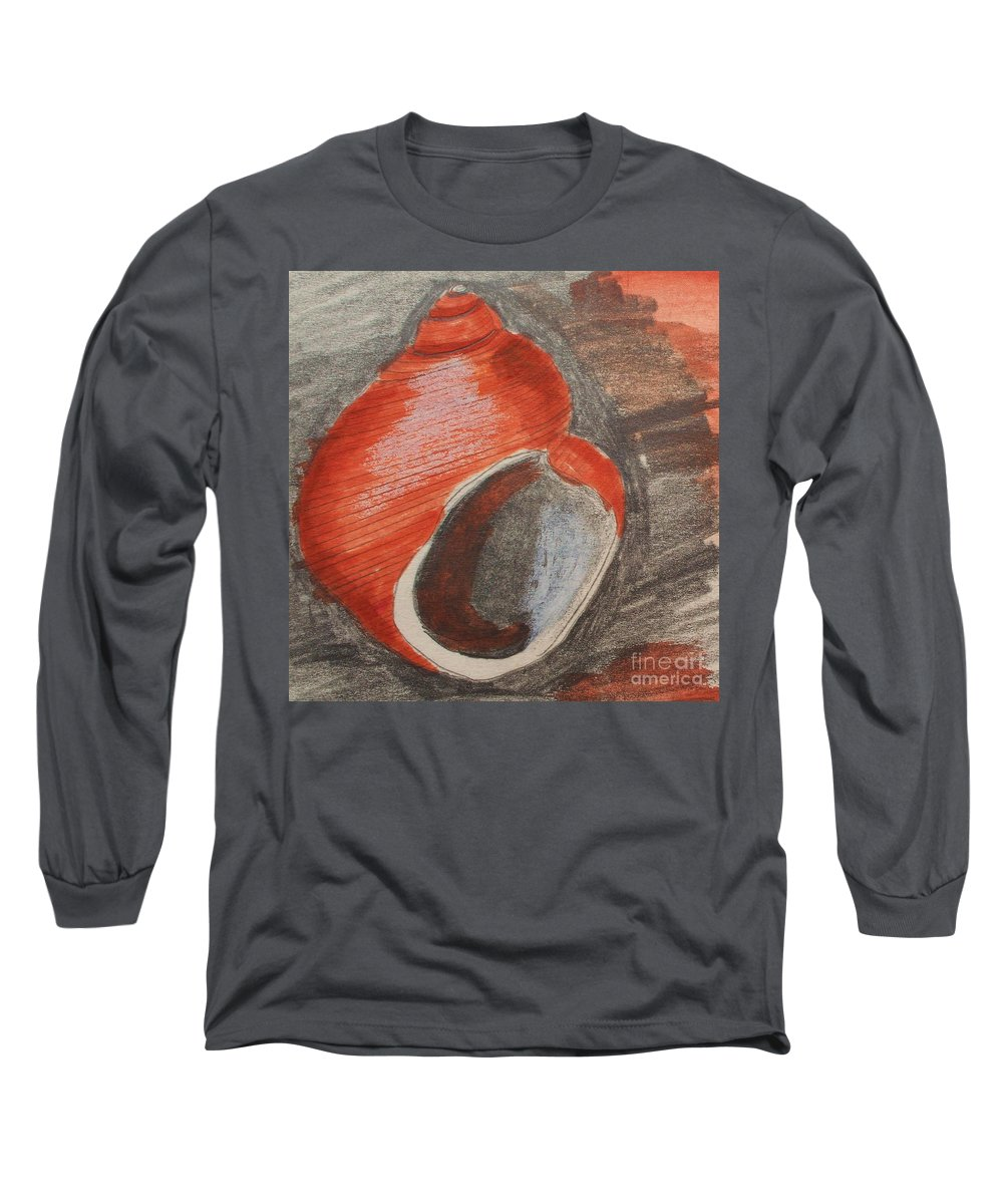 Shell Long Sleeve T-Shirt featuring the painting Shell by Eric Schiabor