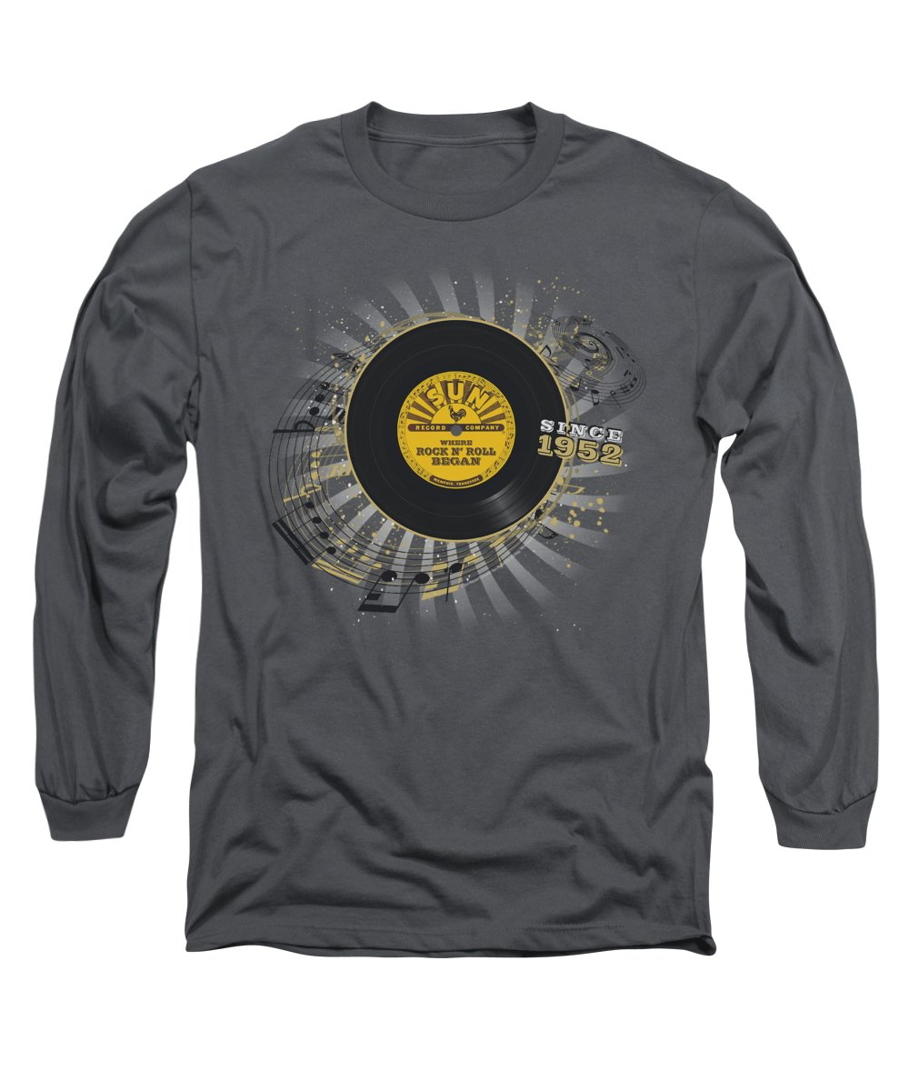 Sun Record Company Long Sleeve T-Shirt featuring the digital art Sun - Established by Brand A