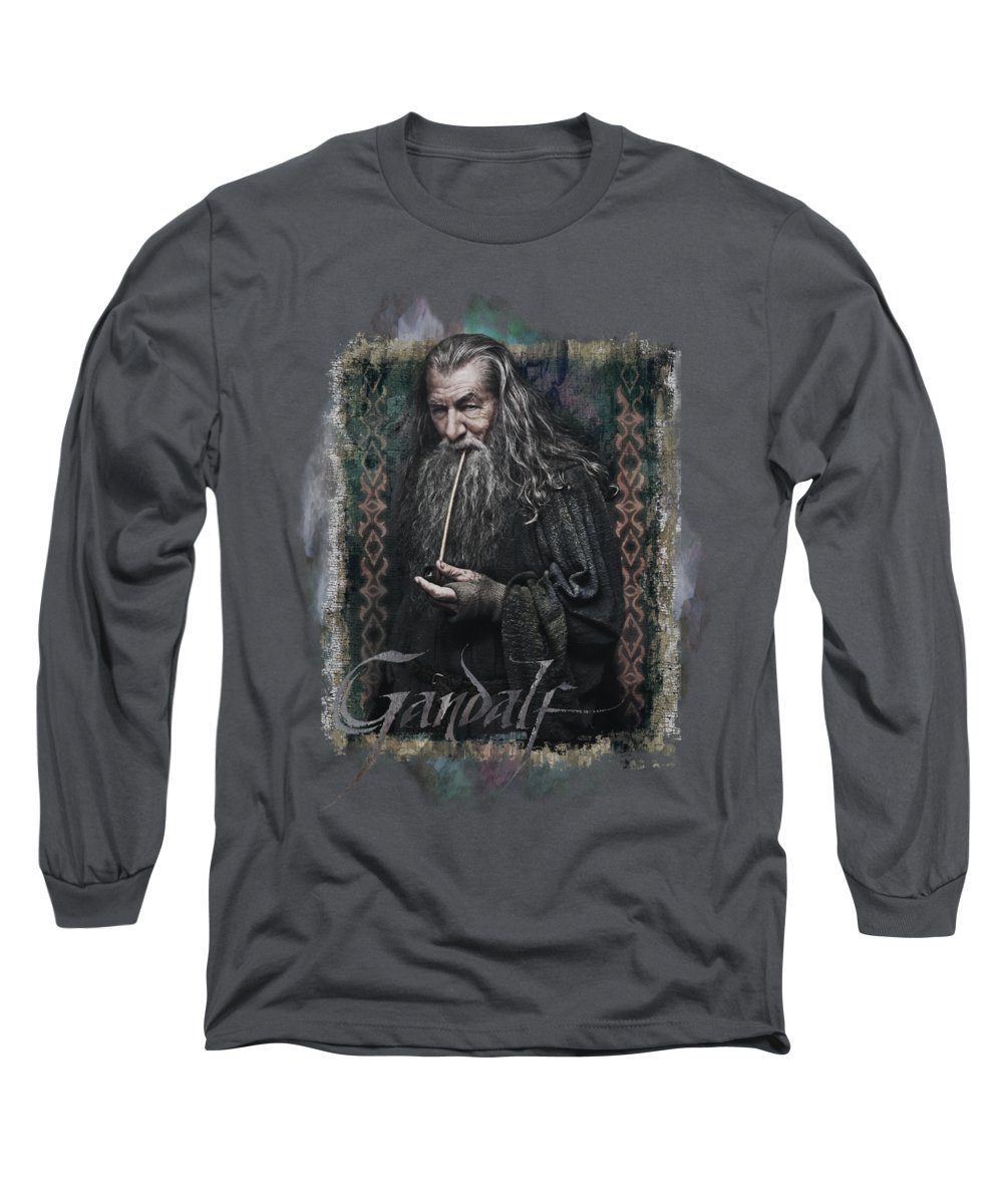 The Hobbit Long Sleeve T-Shirt featuring the digital art The Hobbit - Gandalf by Brand A