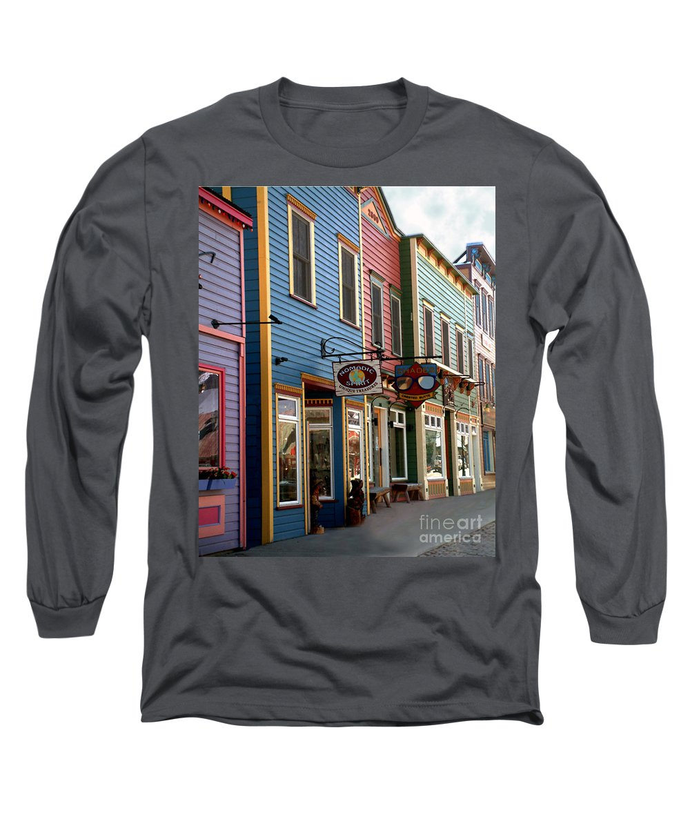 Landscape Long Sleeve T-Shirt featuring the photograph The Shops In Crested Butte by RC DeWinter