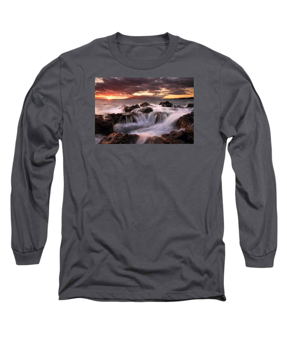 Hawaii Long Sleeve T-Shirt featuring the photograph Tropical Cauldron by Mike Dawson