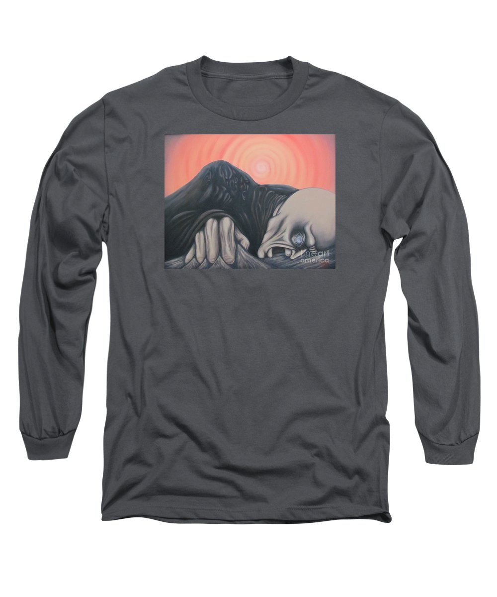 Tmad Long Sleeve T-Shirt featuring the painting Vertigo by Michael TMAD Finney