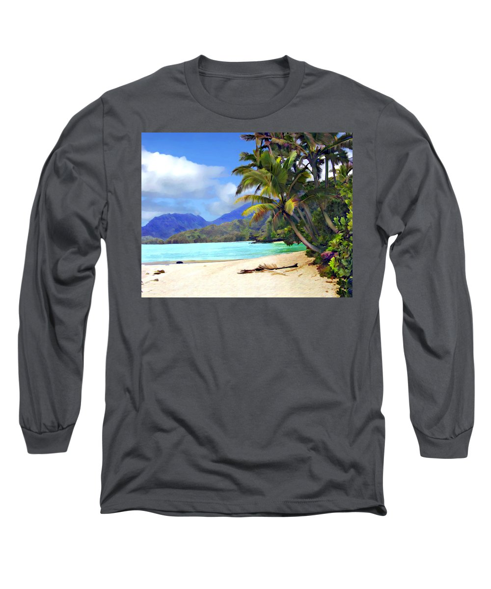 Hawaii Long Sleeve T-Shirt featuring the photograph View From Waicocos by Kurt Van Wagner