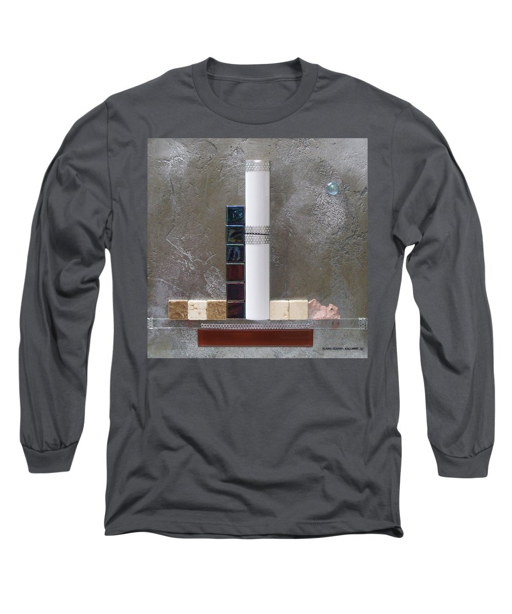 Assemblage Long Sleeve T-Shirt featuring the relief White Tower by Elaine Booth-Kallweit