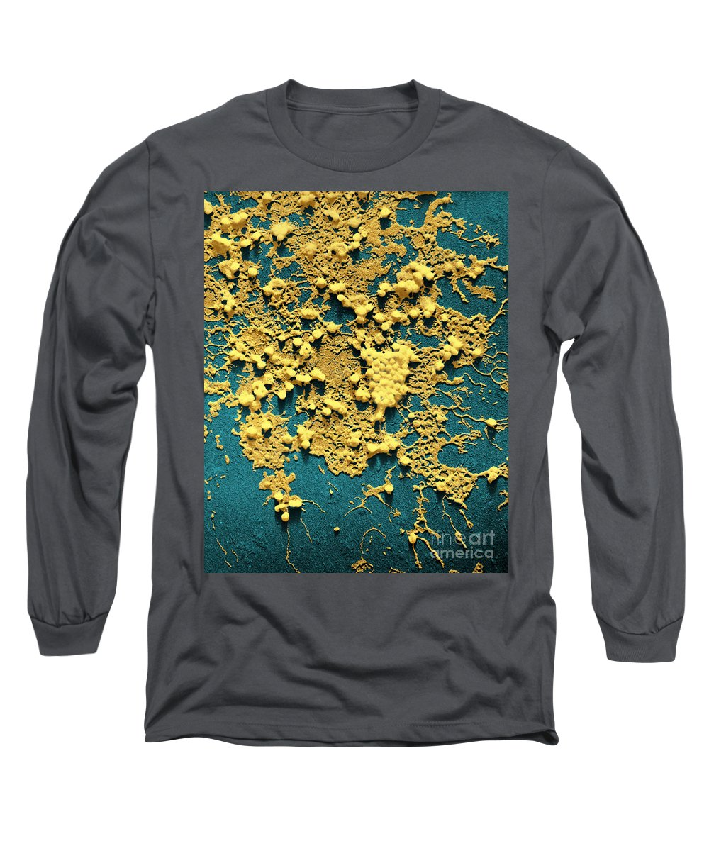 Influenza Long Sleeve T-Shirt featuring the photograph Influenza B by Omikron