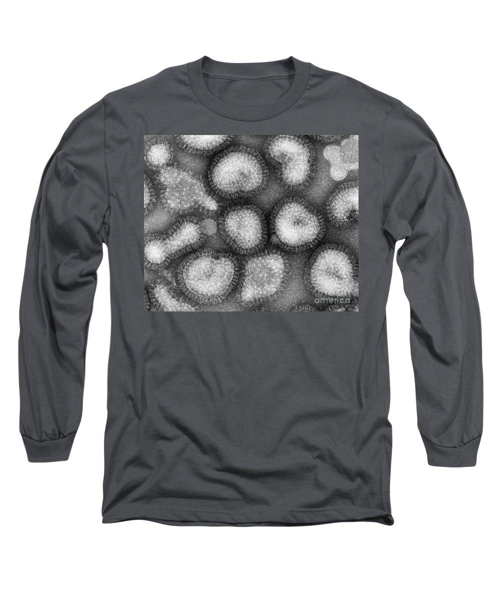 Influenza Virus Long Sleeve T-Shirt featuring the photograph Influenza Virus by Omikron