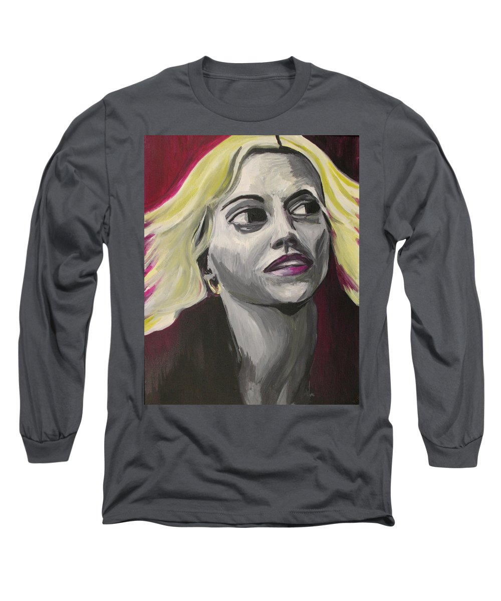 Long Sleeve T-Shirt featuring the painting Brittany Murphy by Kate Fortin
