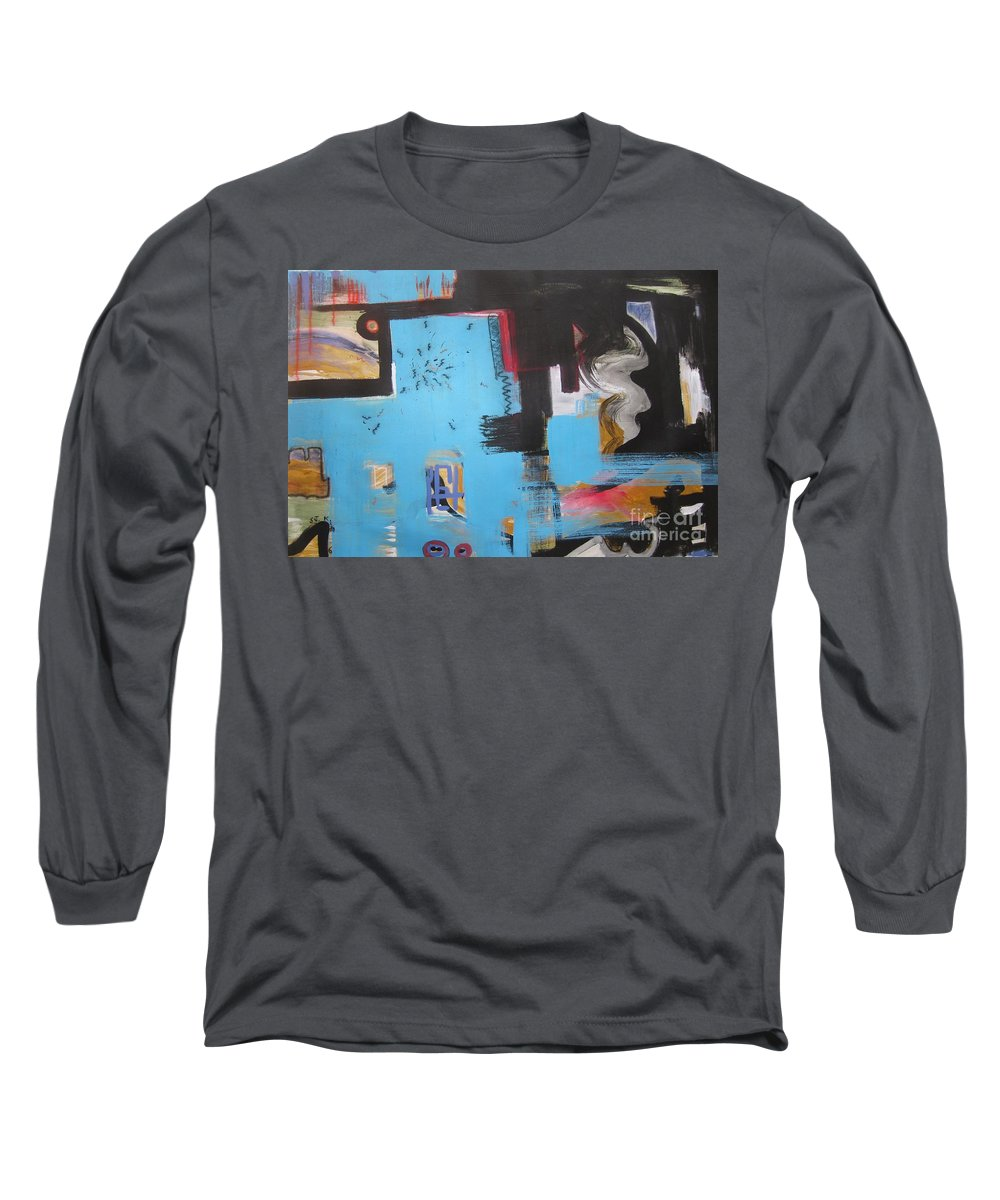Abstract Long Sleeve T-Shirt featuring the painting A False Painting by Seon-Jeong Kim