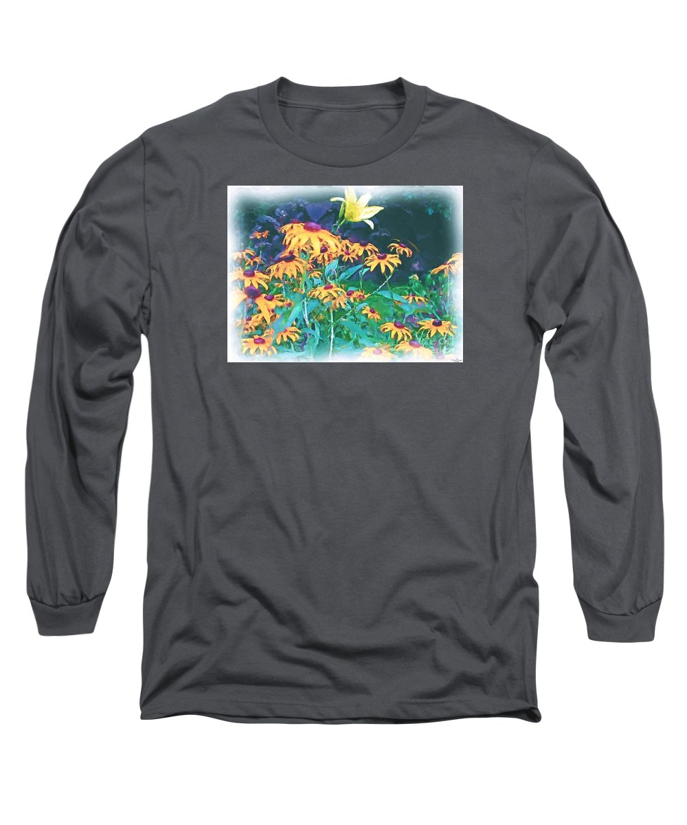 Mixed Media Long Sleeve T-Shirt featuring the painting A Lily In The Field by Patricia Griffin Brett