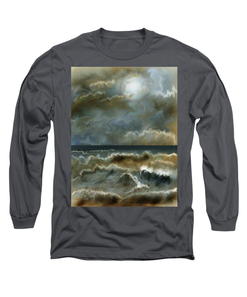 Seascape Long Sleeve T-Shirt featuring the painting After The Squall by Anne Norskog