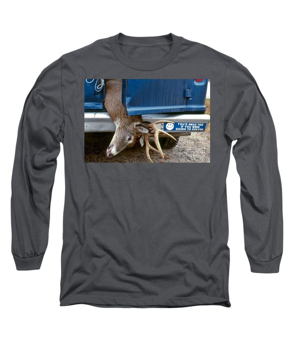 Deer Long Sleeve T-Shirt featuring the photograph Eternal Reward by Thomas Marchessault