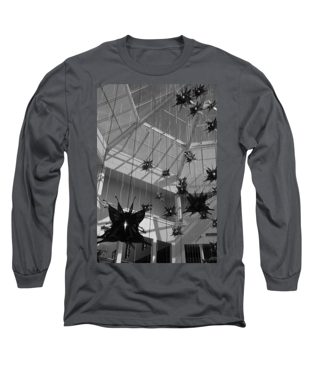 Black And White Long Sleeve T-Shirt featuring the photograph Hanging Butterflies by Rob Hans