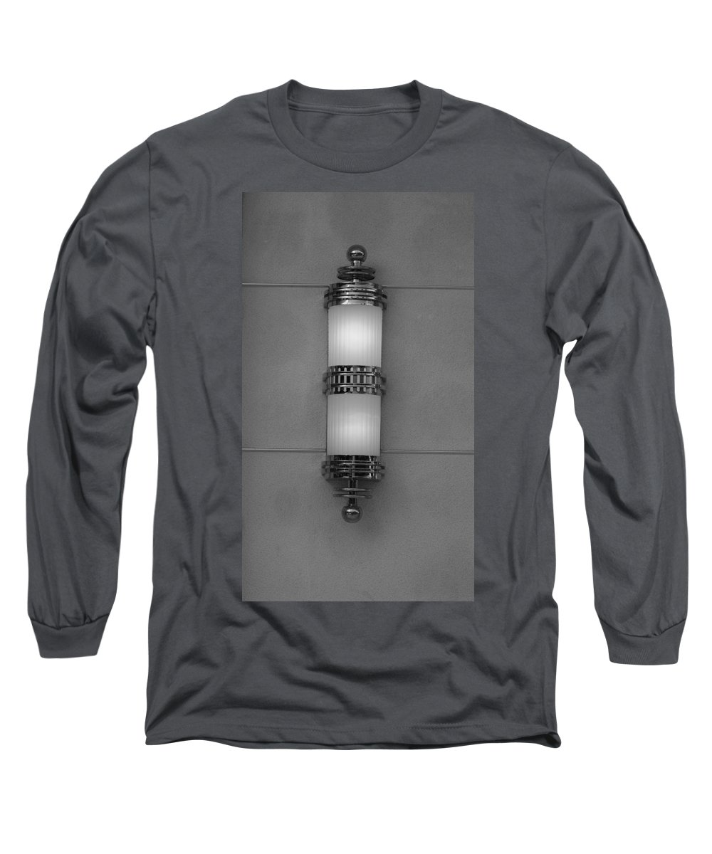 Sconce Long Sleeve T-Shirt featuring the photograph Lighted Wall Sconce by Rob Hans