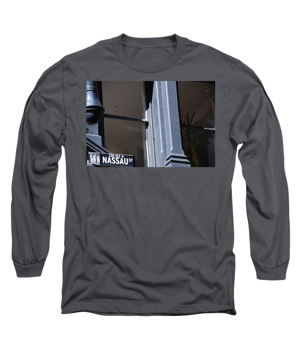 New York City Long Sleeve T-Shirt featuring the photograph Nassau Street by Rob Hans