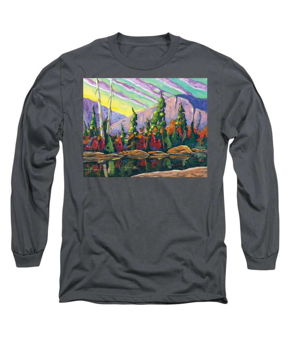 Art Long Sleeve T-Shirt featuring the painting Nature Expression by Richard T Pranke