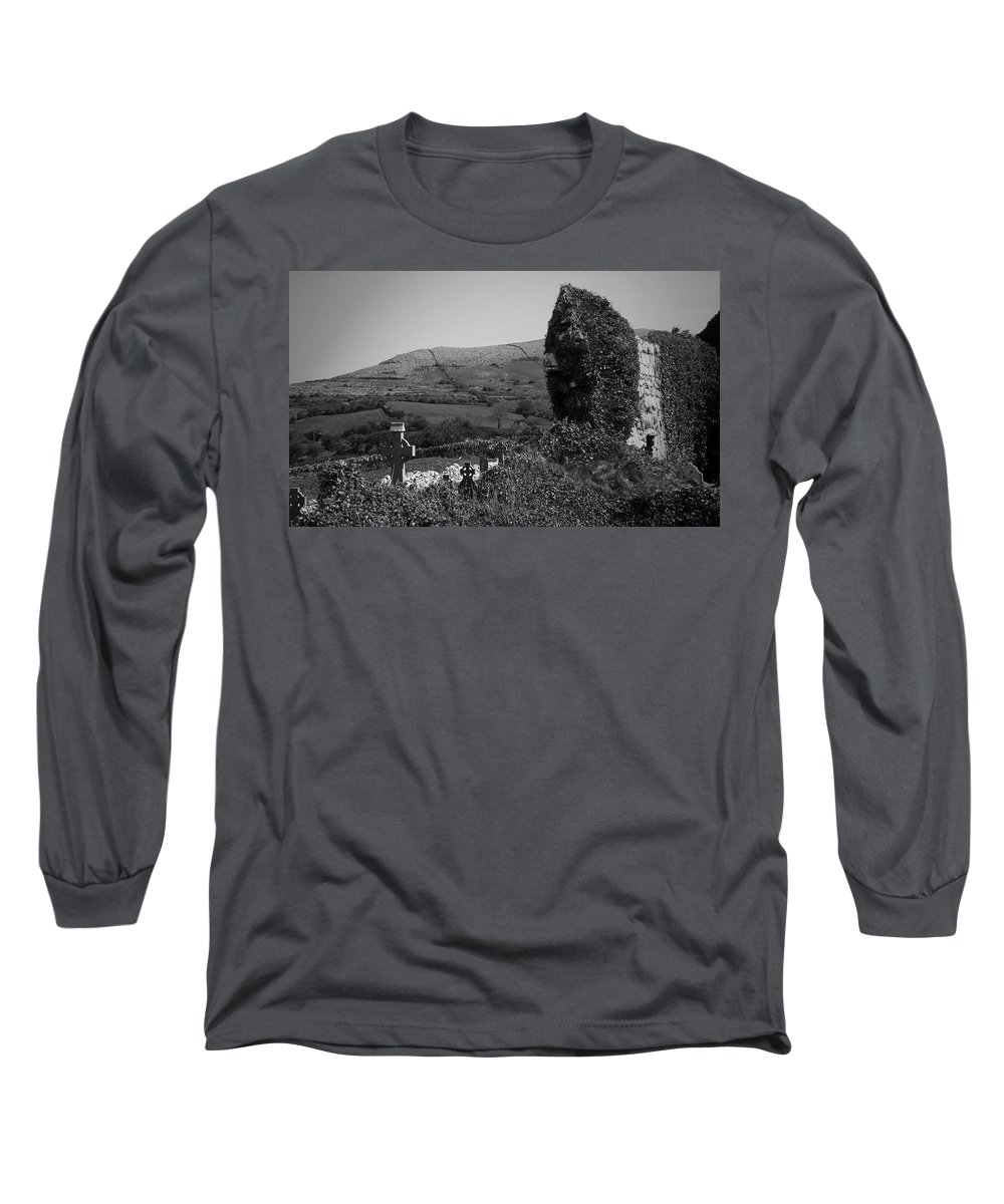 Irish Long Sleeve T-Shirt featuring the photograph Ruins In The Burren County Clare Ireland by Teresa Mucha