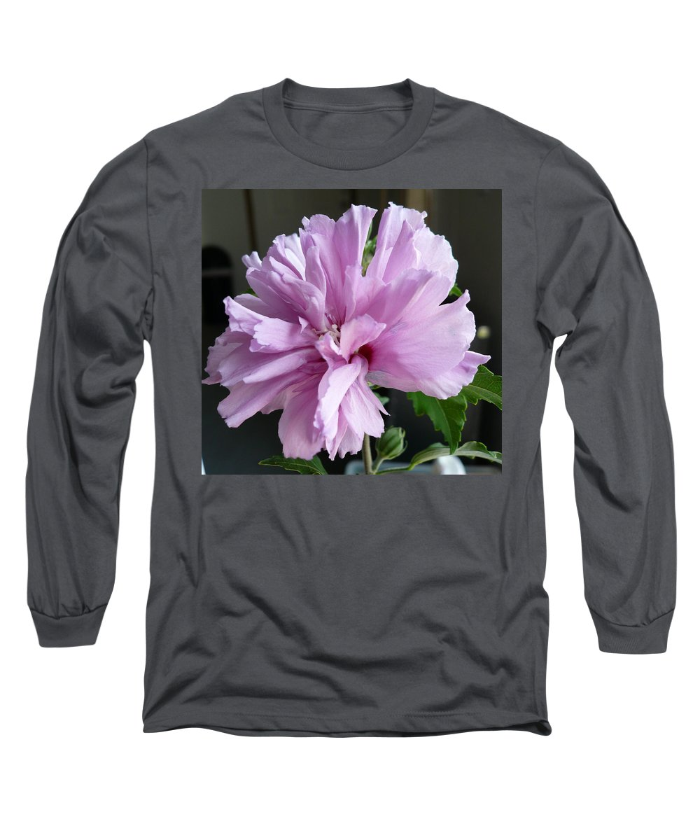 Phoyography.hibiscus Flower Floral Bloom Bush Pink Long Sleeve T-Shirt featuring the photograph So Pink by Karin Dawn Kelshall- Best