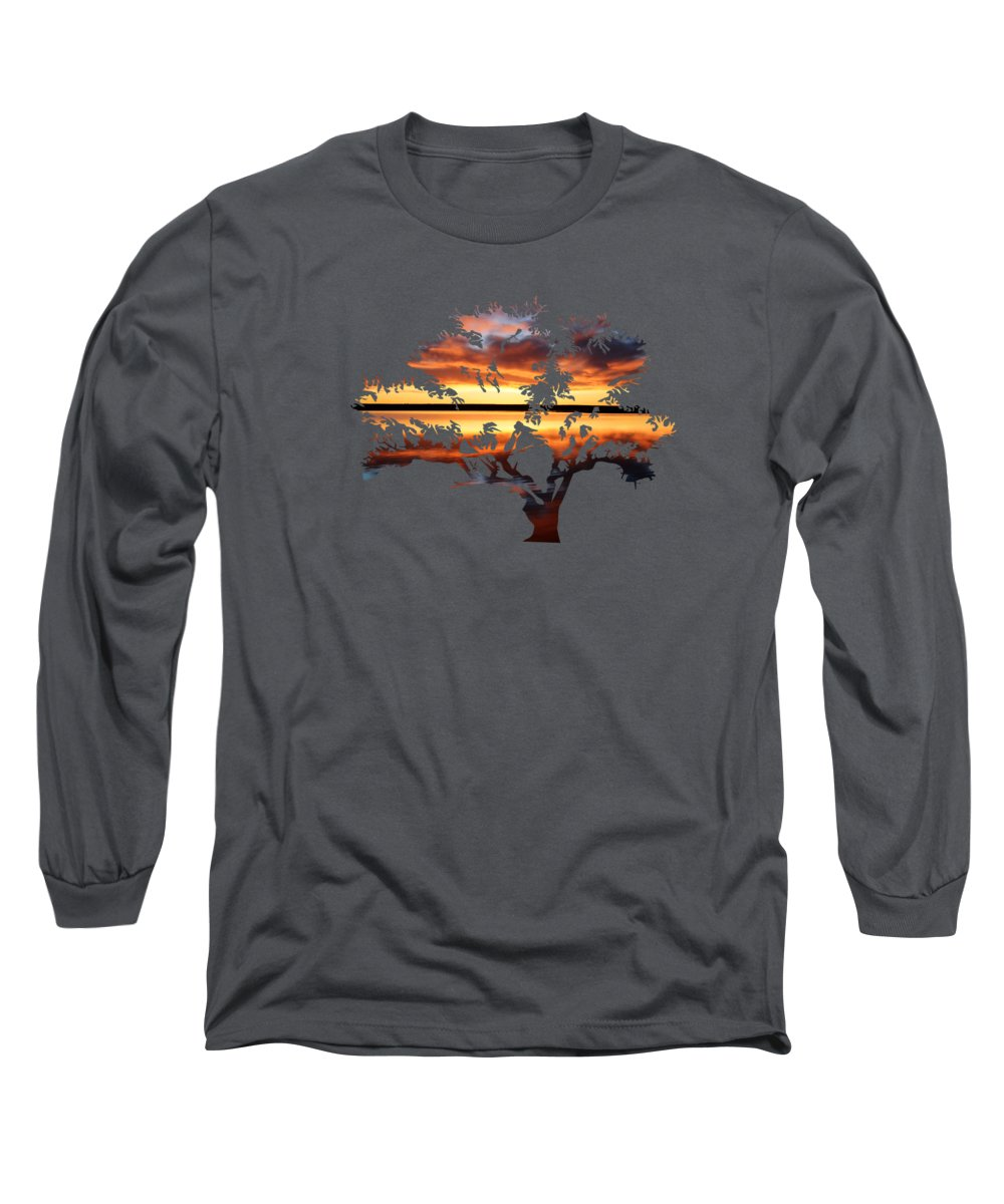 Sunrise Long Sleeve T-Shirt featuring the photograph Sunrise Tree by Whispering Peaks Photography