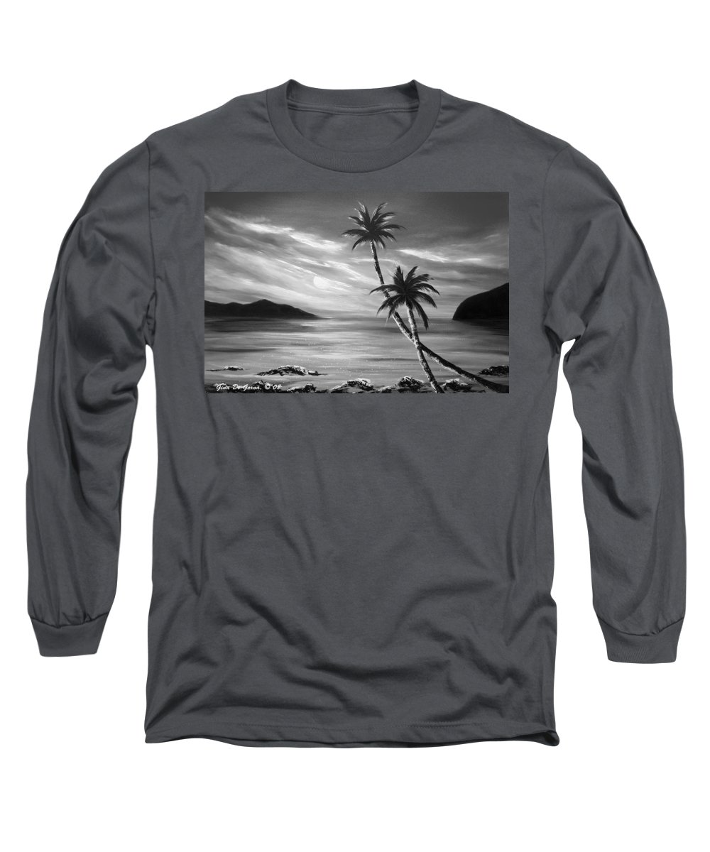 Sunset Long Sleeve T-Shirt featuring the painting Sunset In Paradise by Gina De Gorna