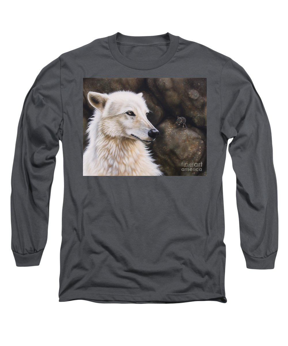 Acrylic Long Sleeve T-Shirt featuring the painting The Mouse by Sandi Baker
