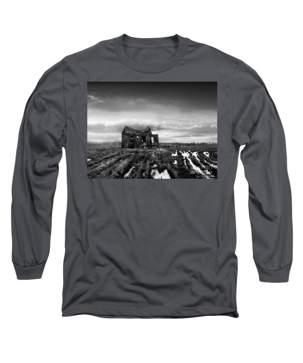 Architecture Long Sleeve T-Shirt featuring the photograph The Shack by Dana DiPasquale