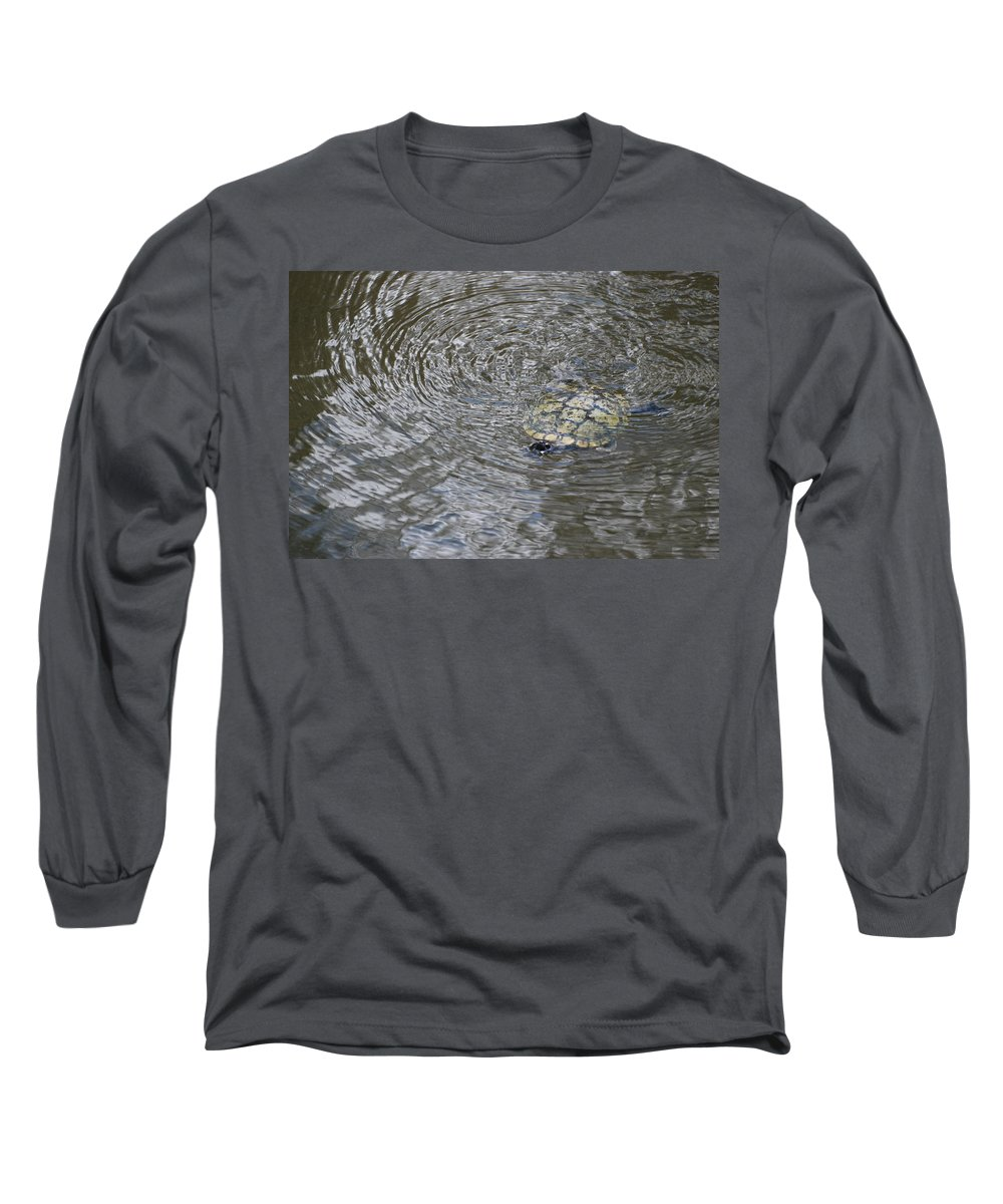 Water Long Sleeve T-Shirt featuring the photograph The Swimming Turtle by Rob Hans
