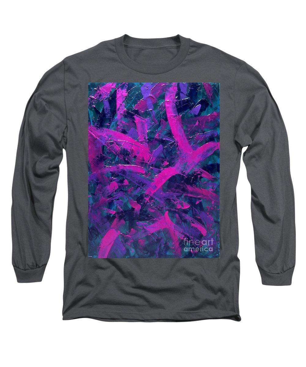 Abstract Long Sleeve T-Shirt featuring the painting Untitled by Dean Triolo