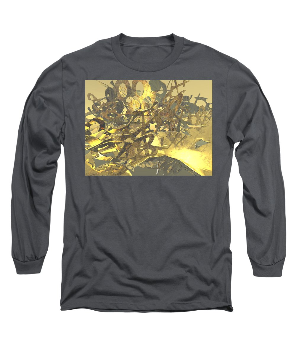 Scott Piers Long Sleeve T-Shirt featuring the painting Urban Gold by Scott Piers