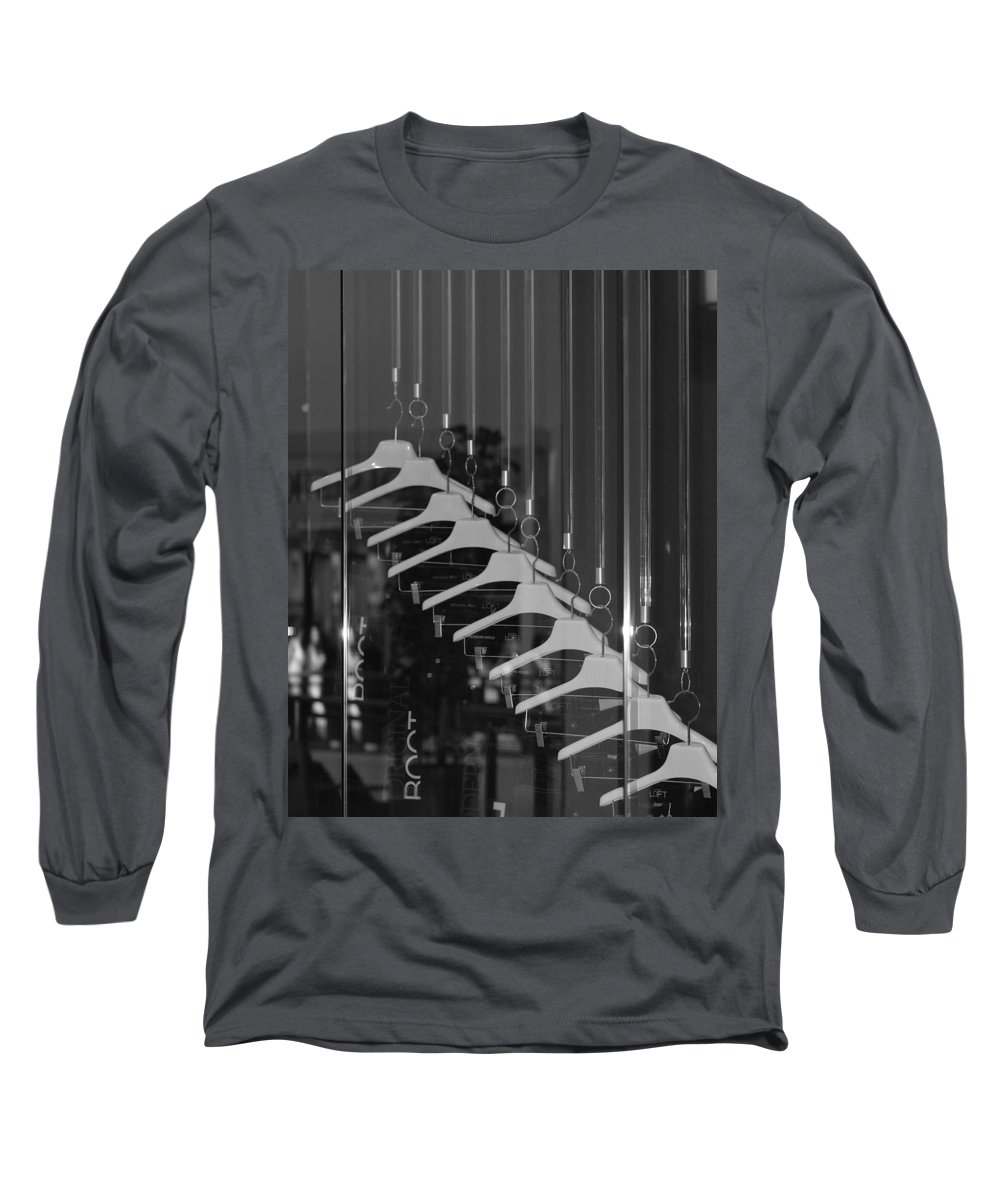 Hangers Long Sleeve T-Shirt featuring the photograph 10 Hangers In Black And White by Rob Hans
