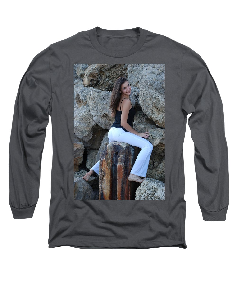 Women Long Sleeve T-Shirt featuring the photograph Gisele by Rob Hans