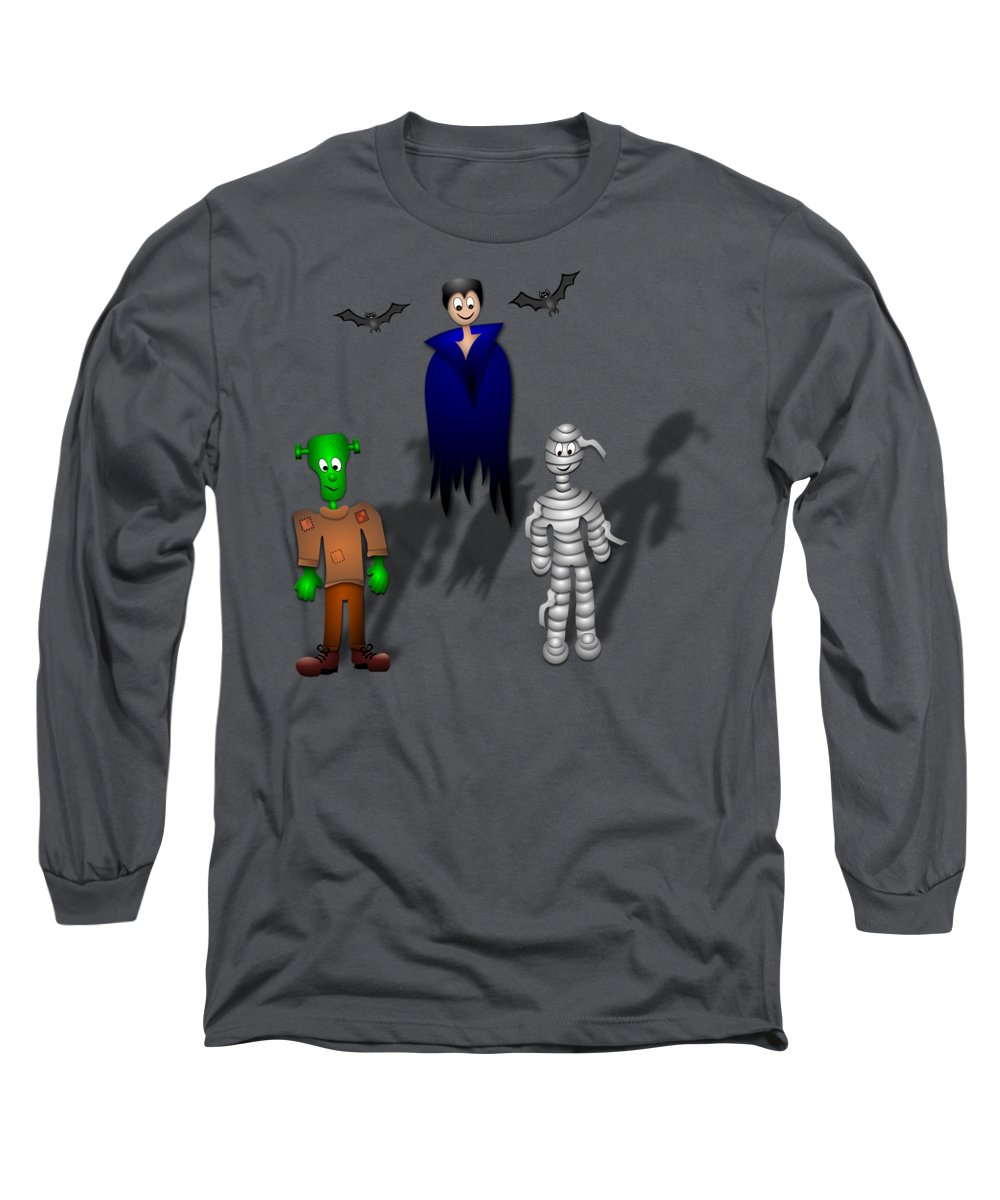 Witchcraft Long Sleeve T-Shirt featuring the digital art Halloween by Frederick Holiday
