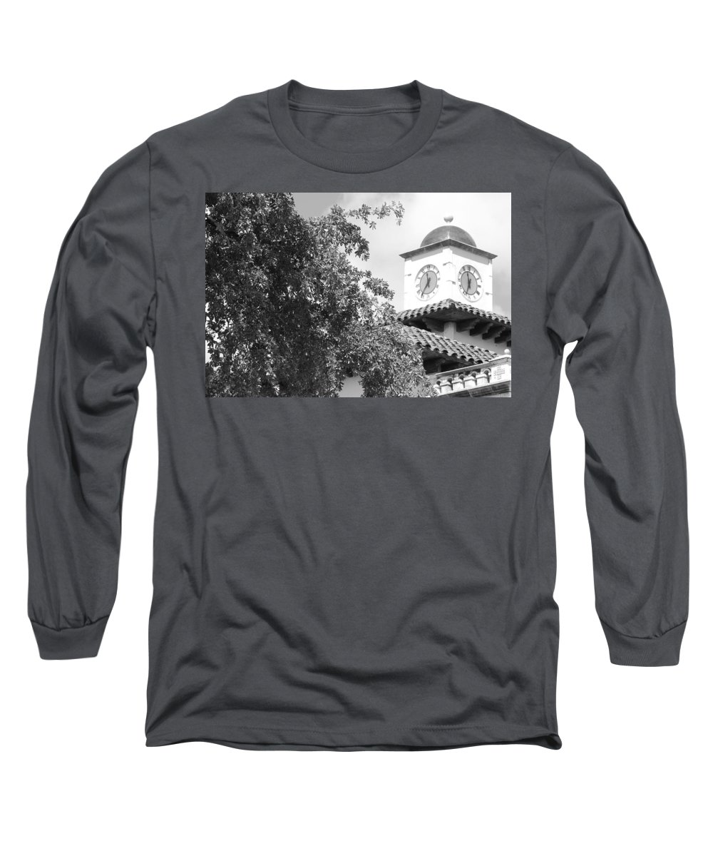 Clock Long Sleeve T-Shirt featuring the photograph Clock Tower by Rob Hans