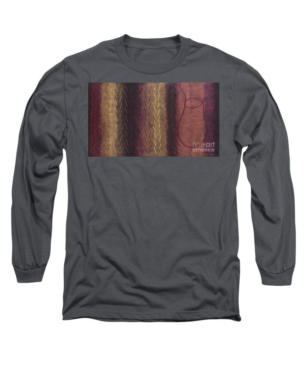 Acrylic Long Sleeve T-Shirt featuring the painting Embodiment - Divine Source by Kerryn Madsen- Pietsch