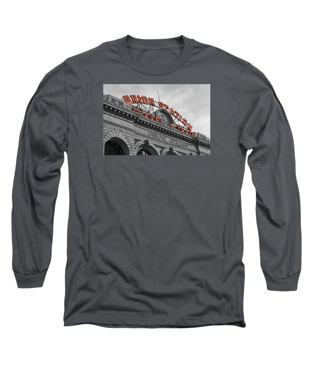 Union Station Long Sleeve T-Shirt featuring the photograph Union Station - Denver by Jeff Steen
