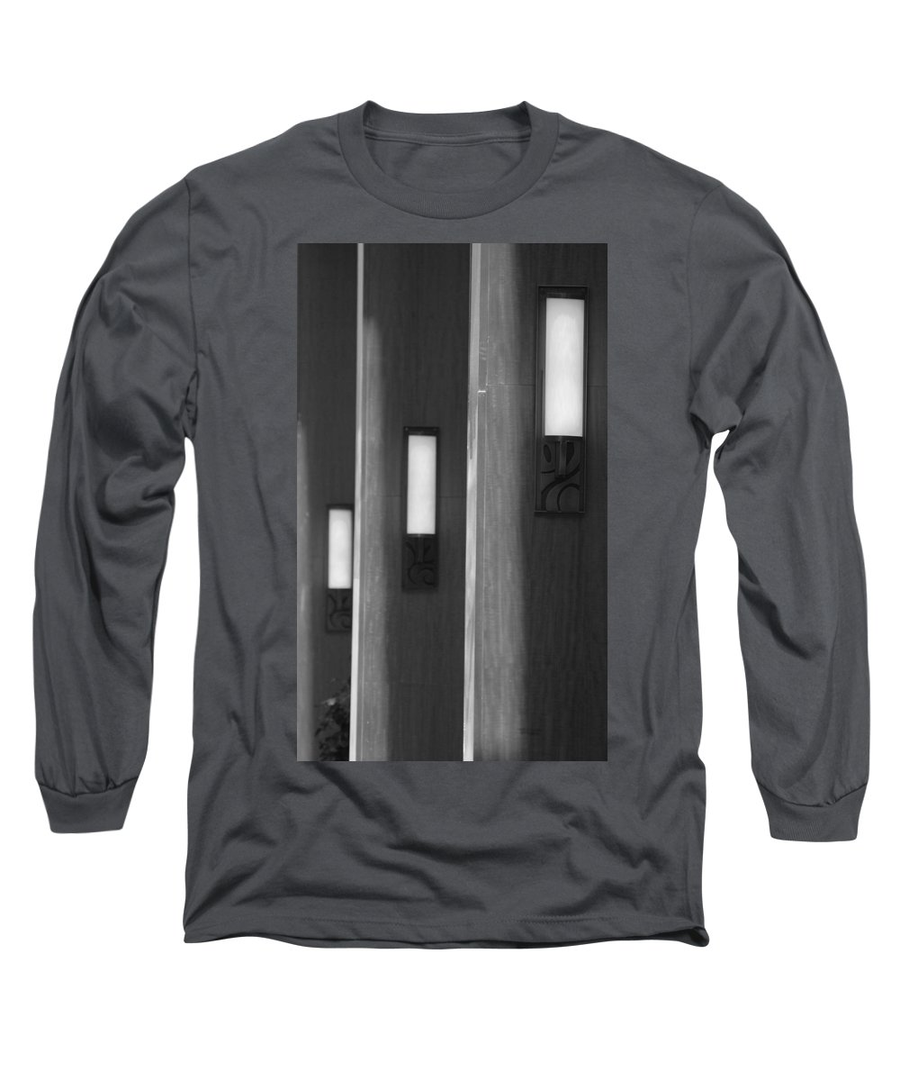 Sconce Long Sleeve T-Shirt featuring the photograph 3 Lighted Wall Sconce by Rob Hans