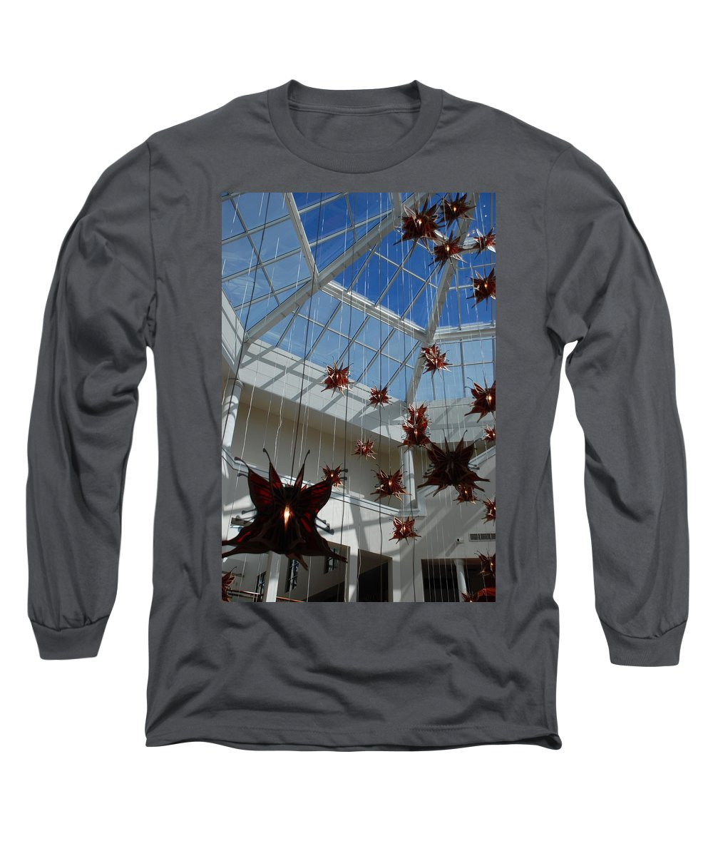 Architecture Long Sleeve T-Shirt featuring the photograph Hanging Butterflies by Rob Hans