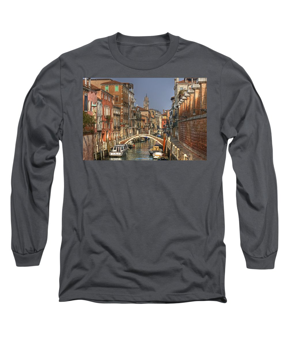Architecture Long Sleeve T-Shirt featuring the photograph Venice - Italy 7 by Joana Kruse