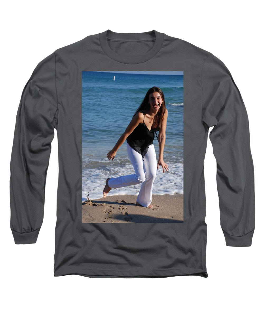 Sea Scape Long Sleeve T-Shirt featuring the photograph Gisele by Rob Hans