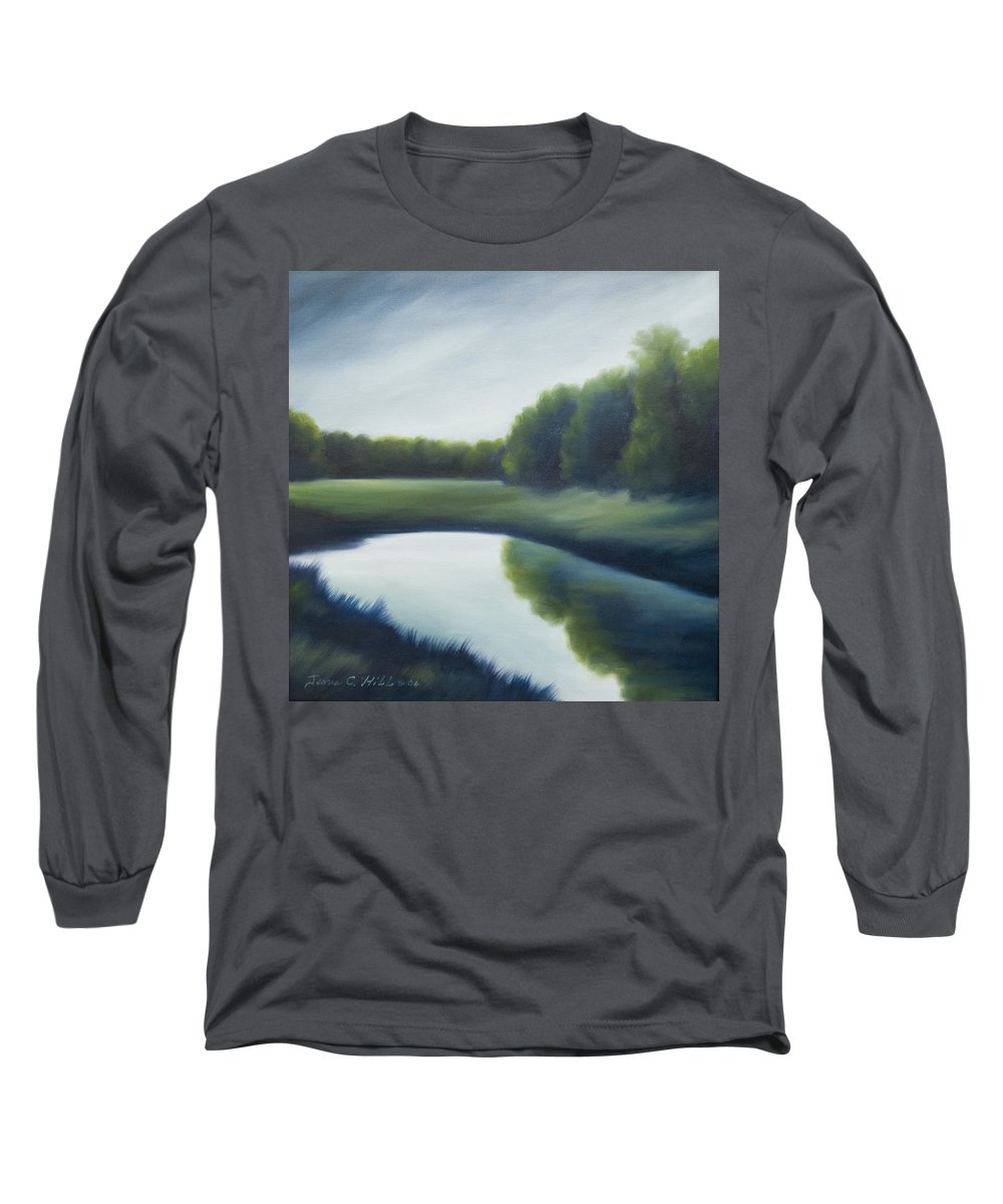 Clouds Long Sleeve T-Shirt featuring the painting A Day In The Life 2 by James Christopher Hill