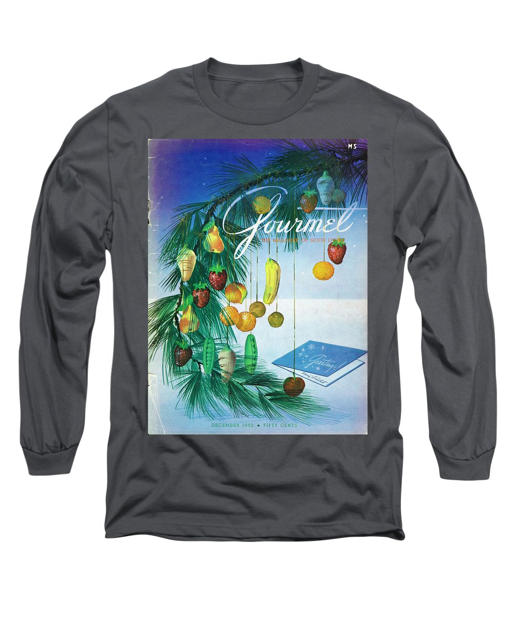 Food Long Sleeve T-Shirt featuring the photograph A Gourmet Cover Of Marzipan Fruit by Henry Stahlhut