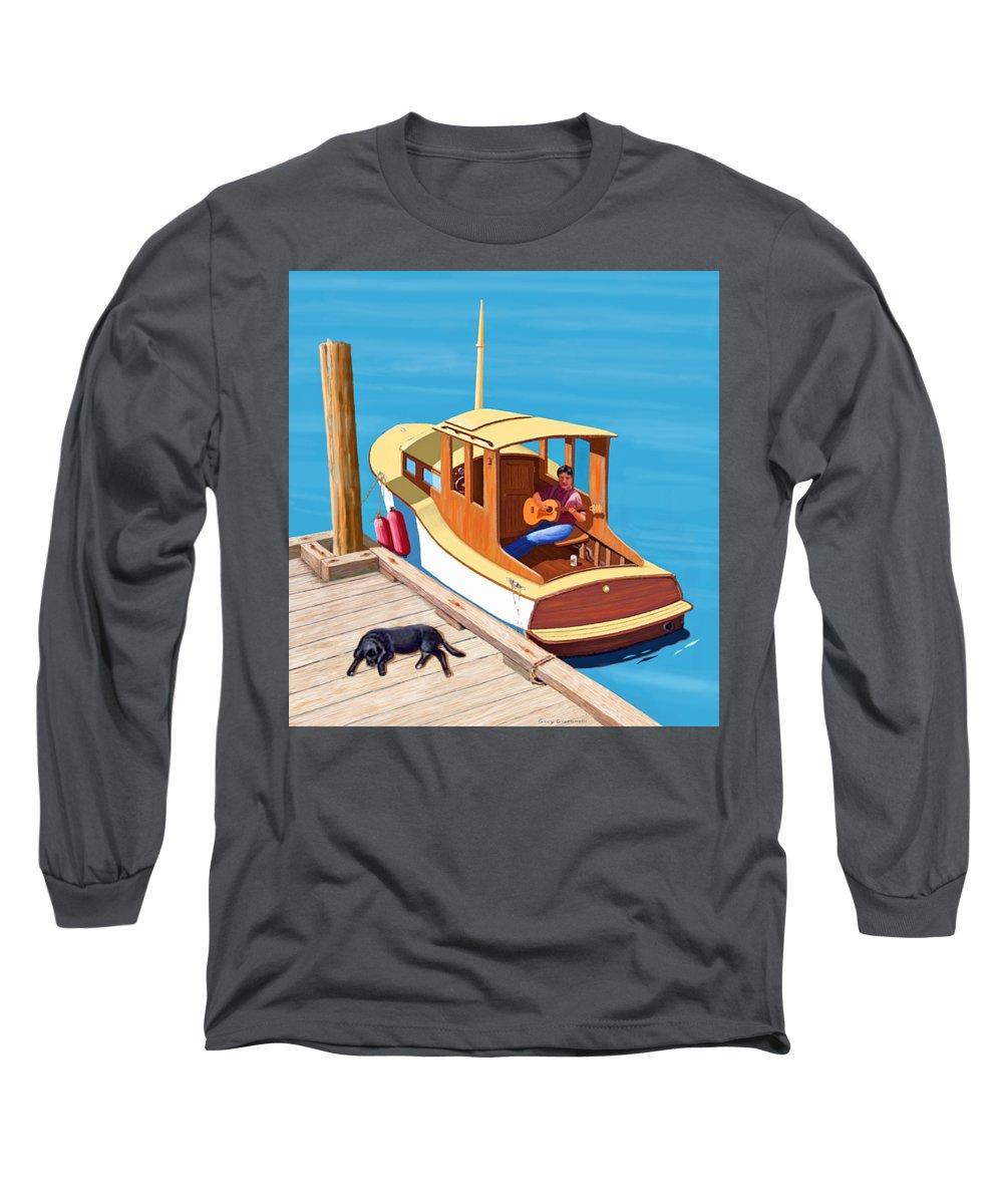 Docked Boats Long Sleeve T-Shirts