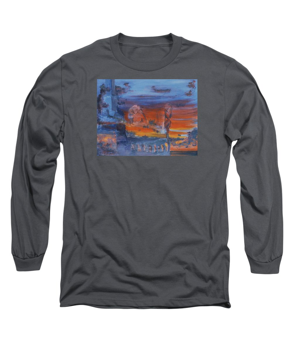 Abstract Long Sleeve T-Shirt featuring the painting A Mystery Of Gods by Steve Karol