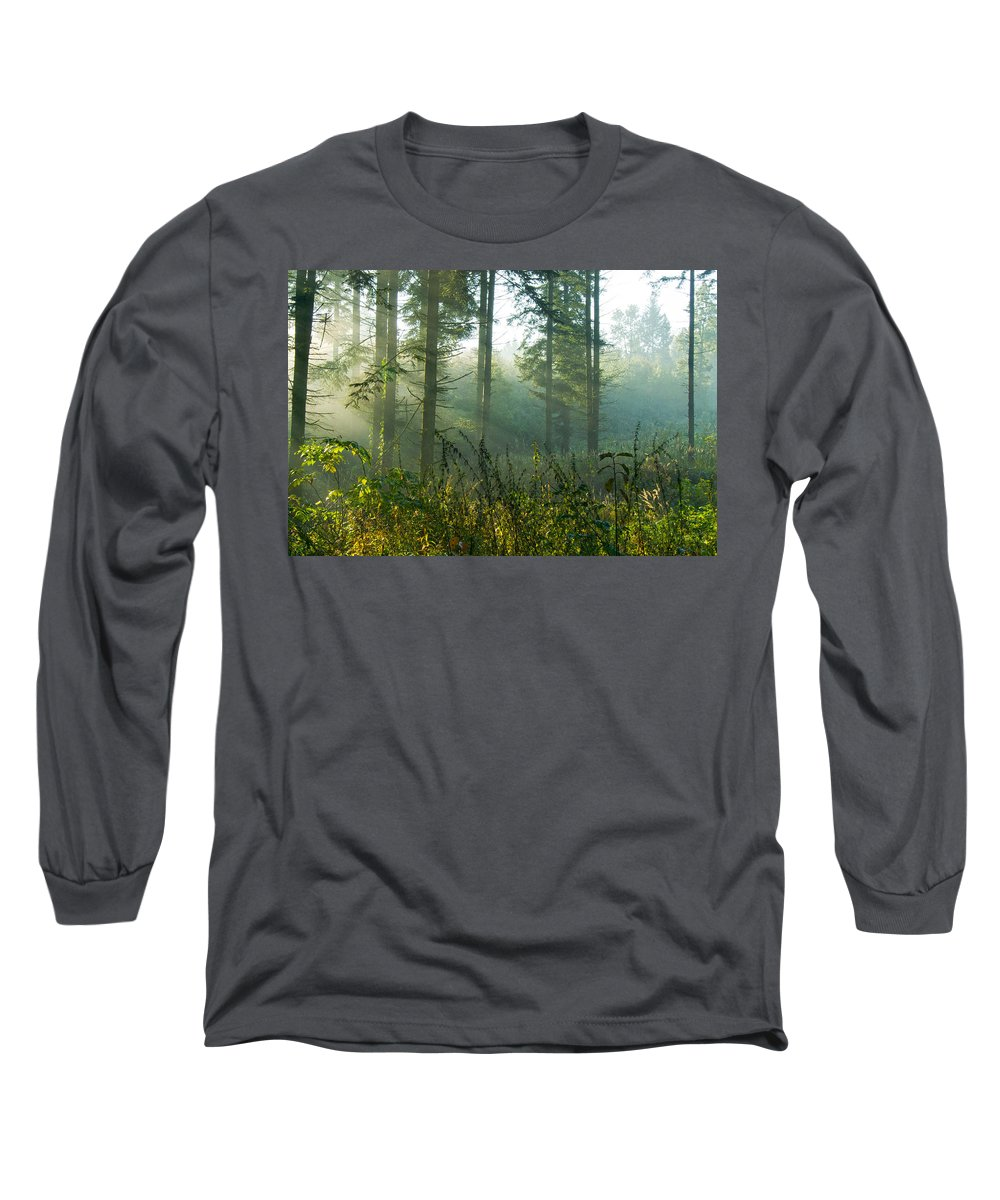 Nature Long Sleeve T-Shirt featuring the photograph A New Day Has Come by Daniel Csoka