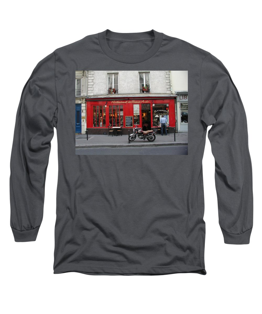 Red Long Sleeve T-Shirt featuring the photograph A Stop Along The Journey by Tom Reynen