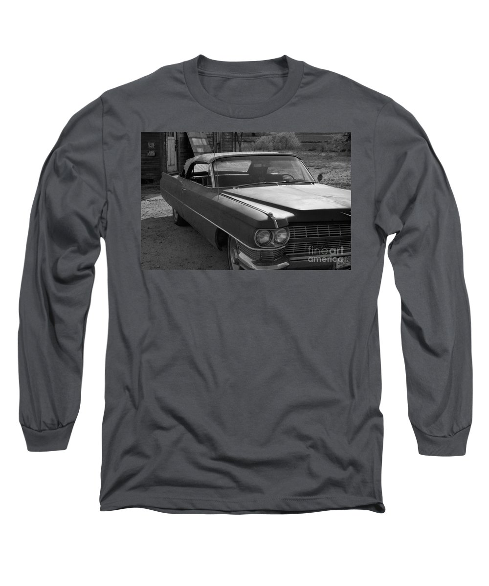 Cadillac Long Sleeve T-Shirt featuring the photograph Abandoned Classic by Richard Rizzo