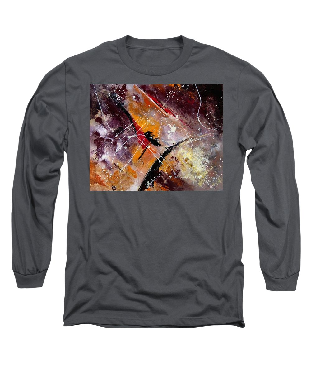 Abstract Long Sleeve T-Shirt featuring the painting Abstract 45 by Pol Ledent